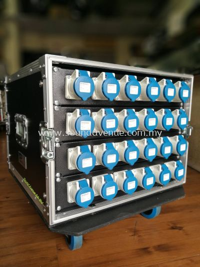 63A/5P Inlet 16A/3P x 24 nos Output Power Distribution Box