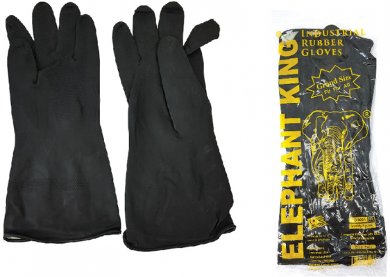 ELEP BLACK RUBBER GLOVE - 00078R