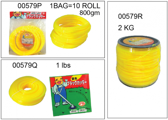 3.0MM X 800LBS SRK GRASS TRIMMER  [10 PCS]- 00579P
