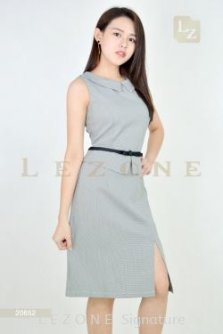 20652 PLAID SLIT DRESS【MEMBER SALE 45% NON-MEMBER SALE 35%】