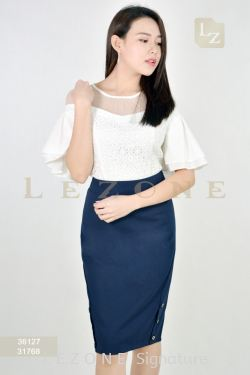31768 SIDE BUTTON PENCIL SKIRT【2 FOR RM99】