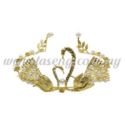Metal Swan Crown * Gold (DU-HB19-G)