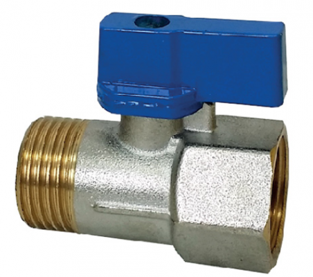 "1/2"" X 1/2"" M X F BRASS MINI VALVE - 00219K"