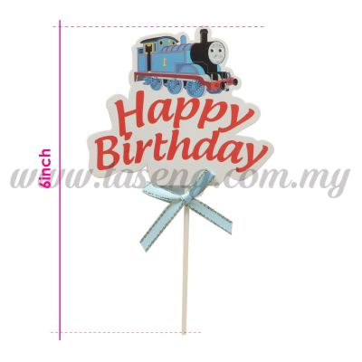 6inch Cake Topper Happy Birthday *Thomas Train (CT-6CT-HBTRN)