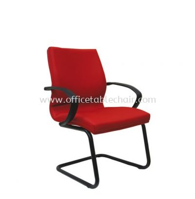 DEKKO STANDARD VISITOR FABRIC CHAIR WITH EPOXY BLACK CANTILEVER BASE