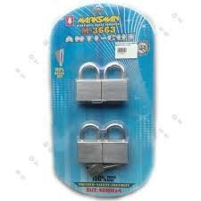 50MM X 4PCS MARKSMAN ANTI-CUT PAD LOCK