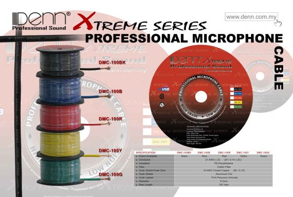 Professional Microphone Cable - DMC Series (Roll)