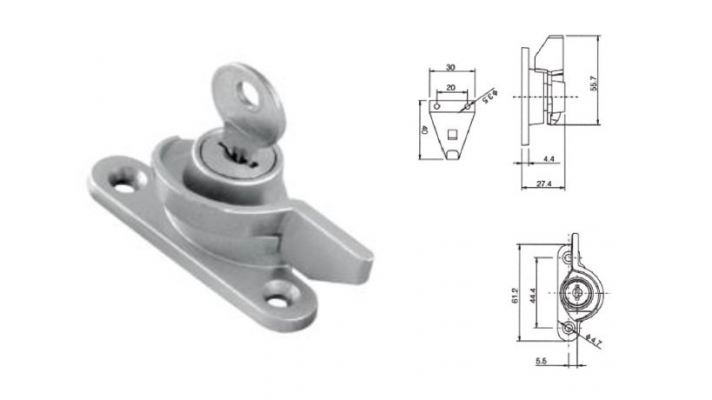 CL-005K  Crecent Lock with Key