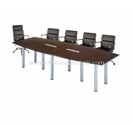 QAMAR BOAT SHAPE CONFERENCE MEETING OFFICE TABLE AQBC 30  (C/W FLIPPER COVER )