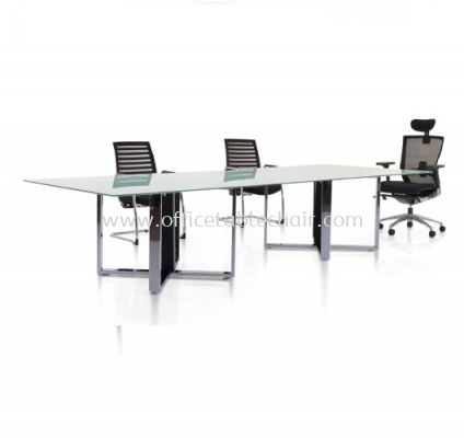 KASSIA-X RECTANGULAR GLASS CONFERENCE OFFICE TABLE