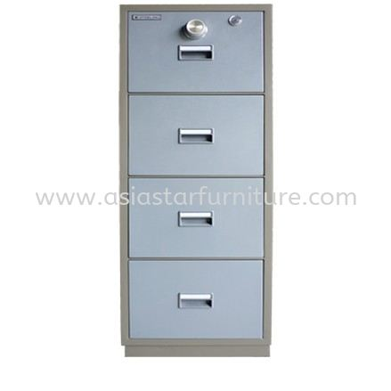FIRE RESISTANT CABINET SAFETY BOX 4 DRAWER (CENTRAL LOCKING) BLUE GREY COLOR-safety box taman oug   safety box cheras   safety box ampang