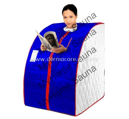 FIR Portable Sauna (Silver and Blue)