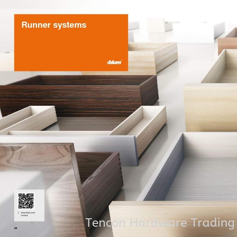 Runner System MOVENTO Drawer systems BLUM