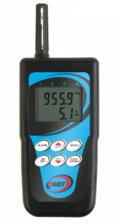 D3633 Thermometer-hygrometer with magnetic temperature probe for measuring surface temperatures