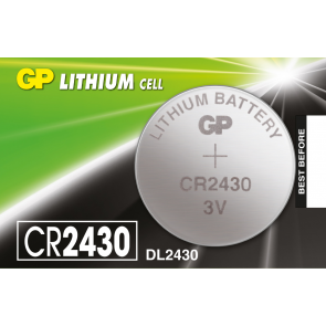 GP, 3 VOLTS LITHIUM CELL BATTERY, SIZE CR2430