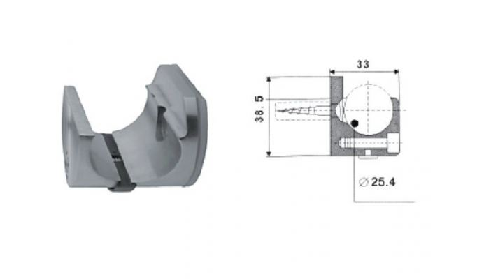 SLC-2-4  Pipe Clamp (Wall)
