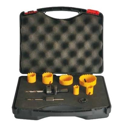 9Pc Bi-metal Holesaw Kit