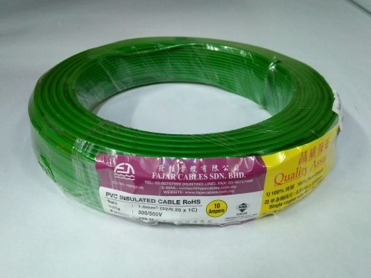 Fajar 32/0.20mm��1.0mm��x 1 Core Flexible Control Wire��Green��100meter