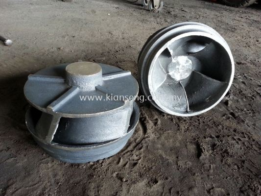 Iron casting 5-blades clarifier impeller