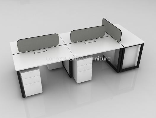 Rectangular Top come with Desking Panel - Cluster of 5