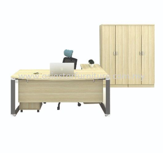 PYRAMID EXECUTIVE OFFICE TABLE FULL SET - Director Office Table Selayang | Director Office Table Rawang | Director Office Table Kepong | Director Office Table Segambut