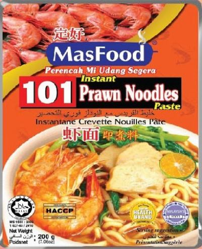 101 INSTANT PRAWN NOODLES PASTE