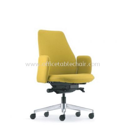 EVE DIRECTOR LOW BACK WITH ALUMINIUM BASE AND FIXED ARMREST AEV 6412F-A