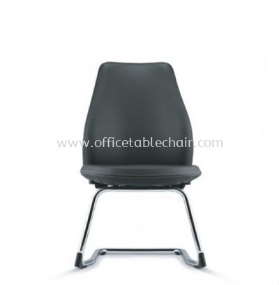 EVE DIRECTOR VISITOR LEATHER CHAIR WITH CHROME CANTILEVER BASE  AEV 6413L-C