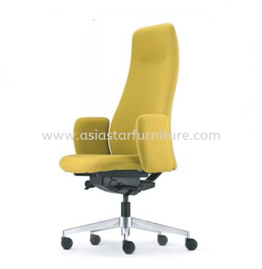 EVE PRESIDENTIAL HIGH BACK WITH ALUMINIUM BASE AND FIXED ARMREST ASEV 6410F-16A