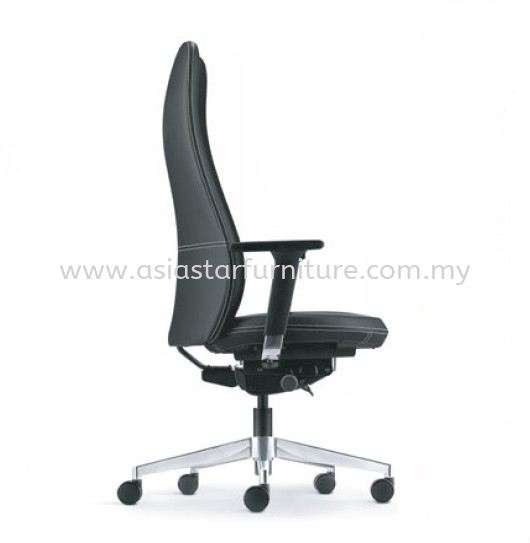 EVE DIRECTOR HIGH BACK LEATHER OFFICE CHAIR WITH ALUMINIUM BASE AND ALUMINIUM ADJUSTABLE ARMREST  - director office chair bangsar south   director office chair jaya one   director office chair ukay perdana