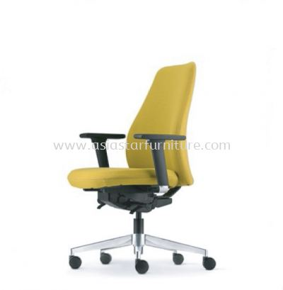 EVE EXECUTIVE LOW BACK WITH ALUMINIUM BASE AND ALUMINIUM ADJUSTABLE ARMREST ASEV 6412F-16D