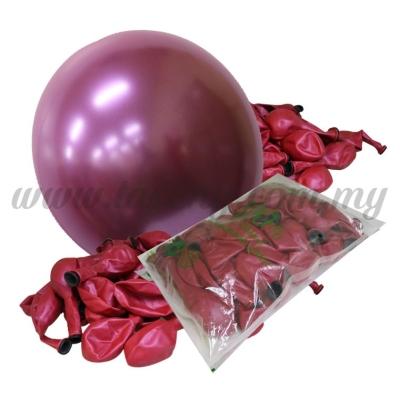 12inch Candy Balloons - Fuchsia 50pcs  (B-CD12-355)