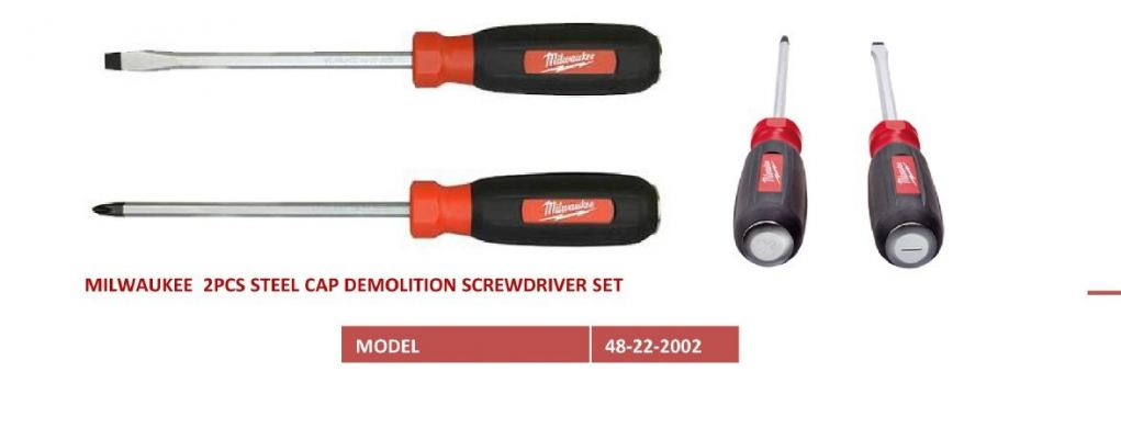 48-22-2002  2Pcs Steel Cap Screwdriver Set