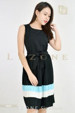 9650 CONTRAST A-LINE DRESS【2 FOR RM149】