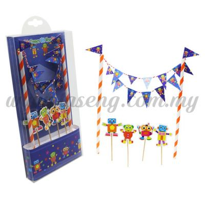Cake Toppers -Robot Blue (CT-05B)