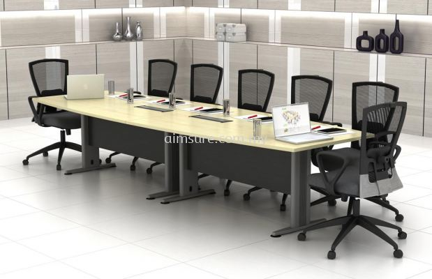 Wood Panel Conference Table