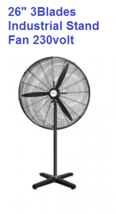"26"" 3 BLADES INDUSTRIAL STAND FAN - MORE WIND"