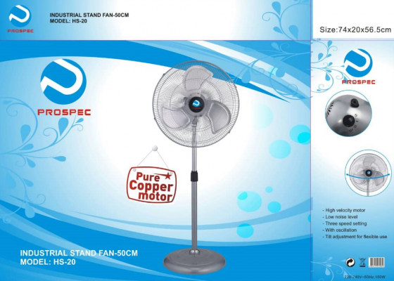 "PROSPEC 20"" INDUSTRIAL STAND FAN"