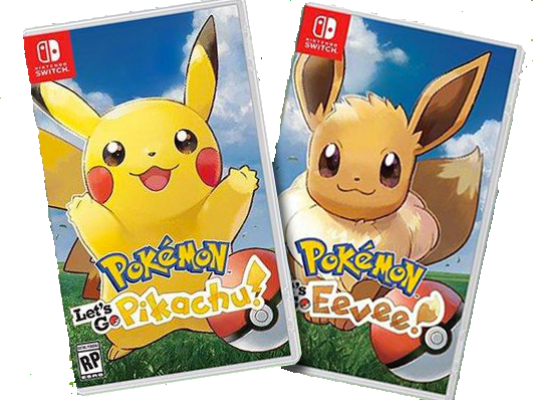 Nintendo Switch Pokemon Let's Go Pikachu & Eevee