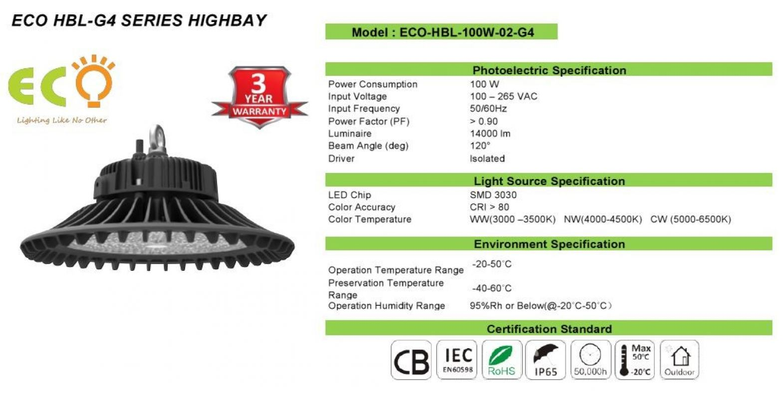 ECO-HBL-100W-G4 SERIES  LED G4-SERIES LED HBL-G4 SERIES Kluang, Johor, Malaysia Supplier Supply Manufacturer | ECO LED Lighting Solution