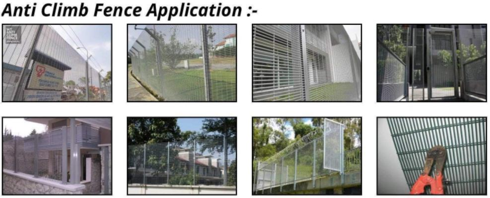 To supply & installation anti climb fence gi mesh