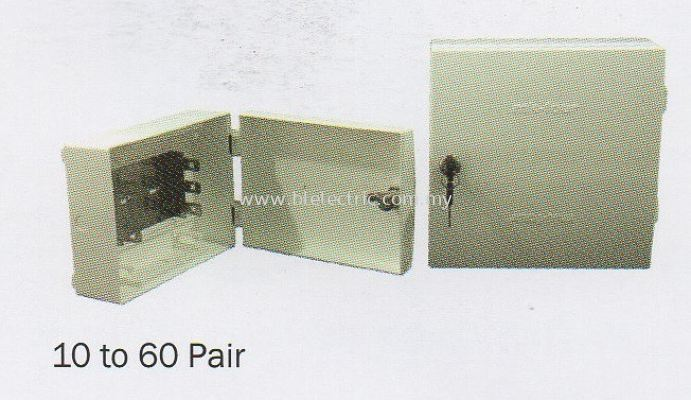 Plastic Tel Distribution Box 10 to 60 Pair