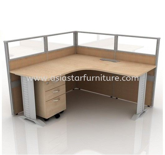 CLUSTER OF 1 OFFICE PARTITION WORKSTATION 27 - Partition Workstation Puchong | Partition Workstation Sunway | Partition Workstation Subang | Partition Workstation Shah Alam