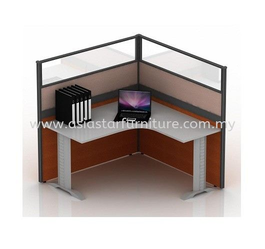 CLUSTER OF 1 OFFICE PARTITION WORKSTATION 24 - Partition Workstation Taman OUG | Partition Workstation Cheras | Partition Workstation Ampang | Partition Workstation Sungai Besi