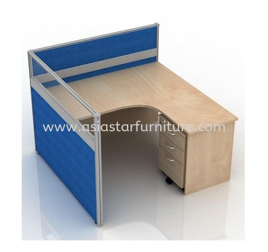 CLUSTER OF 1 OFFICE PARTITION WORKSTATION 19 - Partition Workstation Pandan Indah | Partition Workstation Pandan Perdana | Partition Workstation Taman Muda | Partition Workstation Taman Connaught