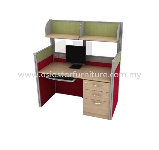 CLUSTER OF 1 OFFICE PARTITION WORKSTATION 7 - Partition Workstation Shah Alam | Partition Workstation Setia Alam | Partition Workstation Kota Kemuning | Partition Workstation Klang