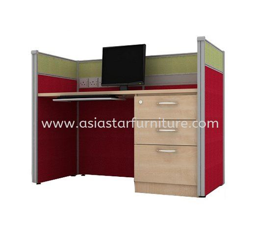CLUSTER OF 1 OFFICE PARTITION WORKSTATION 10 - Partition Workstation Rawang | Partition Workstation Bandar Botanic | Partition Workstation Bandar Bukit Raja | Partition Workstation Bandar Bukit Tinggi