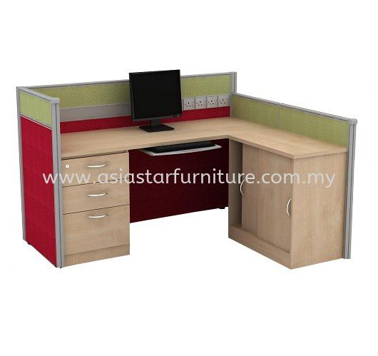CLUSTER OF 1 OFFICE PARTITION WORKSTATION 12 - Partition Workstation Kelana Jaya | Partition Workstation Oasis Ara Damansara | Partition Workstation Bangsar South | Partition Workstation Puteri Puchong