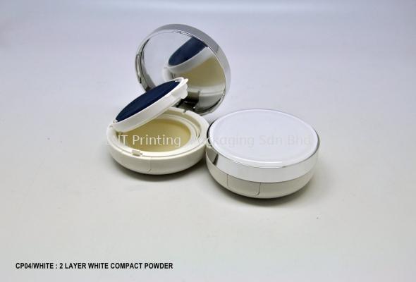 CP04/WHITE : 2 LAYER WHITE COMPACT POWDER
