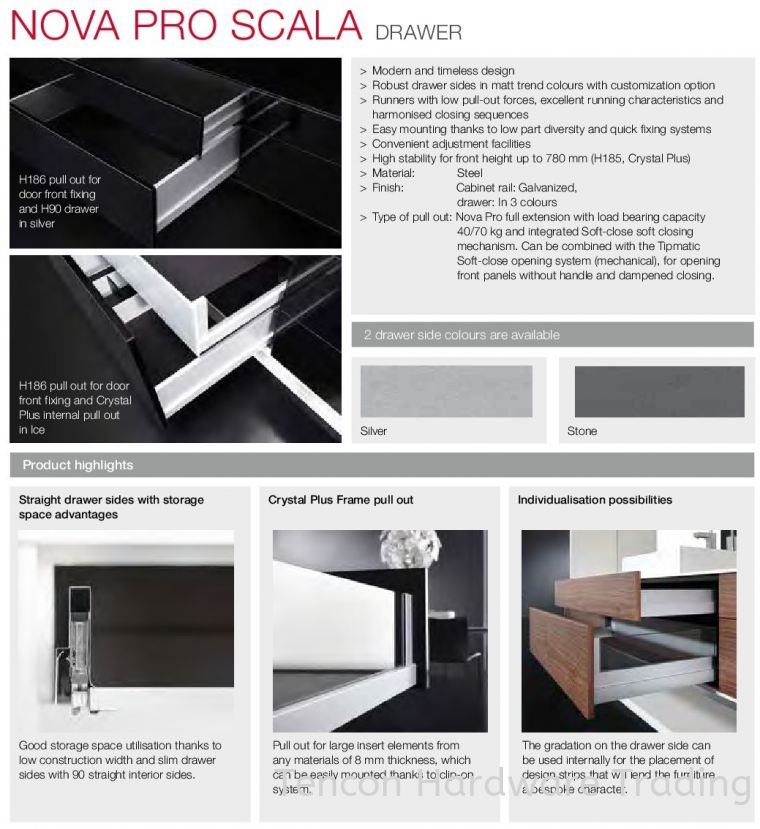 Nova Pro Scala Features Nova Pro Scala Drawer Runner Hafele Kitchen Solution